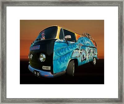 Camper Van Paint Job Framed Print by Pete Hemington