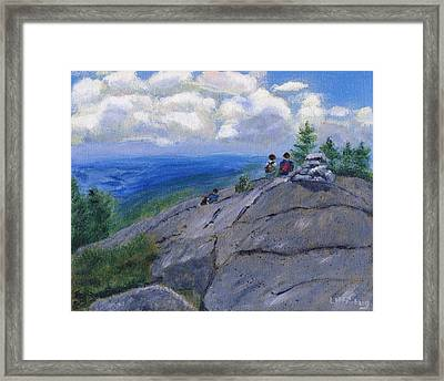 Campers On Mount Percival Framed Print
