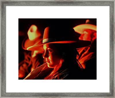 Campfire Glow Framed Print