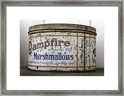 Campfire Marshmallows Tin Framed Print by Lynn Palmer