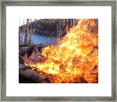 Campfire Framed Print by James Peterson