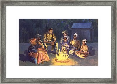 Campfire Stories Framed Print