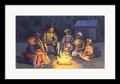 Campfire Stories Framed Prints