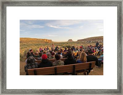 Campfire Talk At Chaco Canyon Framed Print by Feva  Fotos