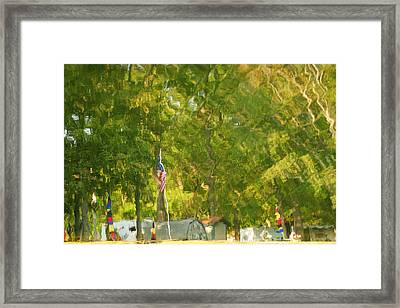 Campground Abstract Framed Print by Frozen in Time Fine Art Photography