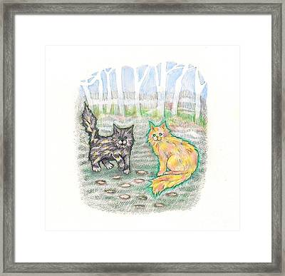Campground Cats Framed Print