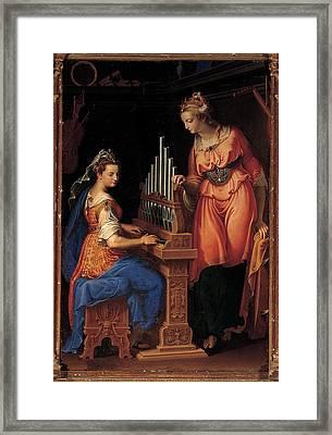 Campi Bernardino, Sts Cecilia Framed Print by Everett