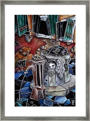 Campiello Delle Strope - Pittori Veneziani Contemporanei Framed Print by Arte Venezia