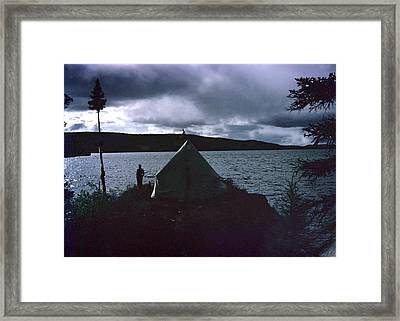 Camping In Labrador-1953 Framed Print