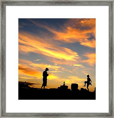 Camping In Neverland Framed Print
