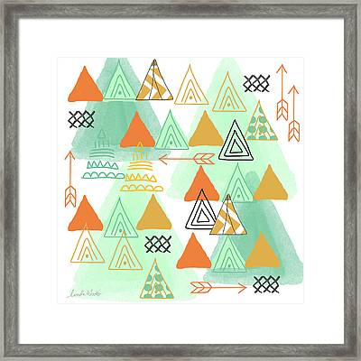 Camping Framed Print by Linda Woods