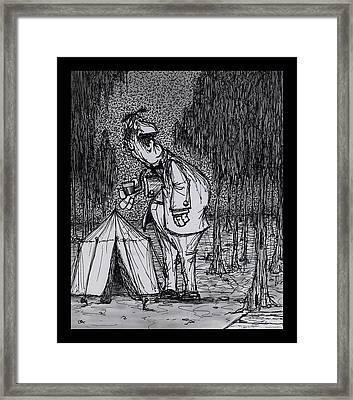 Camping Out Framed Print by Wayne Carlisi