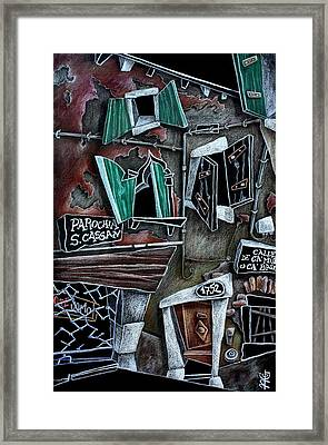 Campo San Cassian - Illustratori Italiani E Artisti Contemporanei Framed Print by Arte Venezia