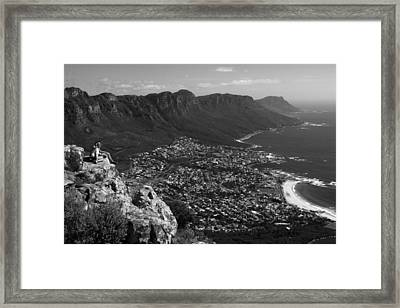 Camps Bay View Cape Town Framed Print