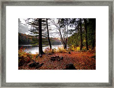 Campsite On Cary Lake Framed Print by David Patterson