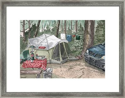Campsite Framed Print by Sean Seal