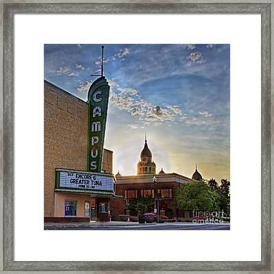 Campus At Sunrise Framed Print