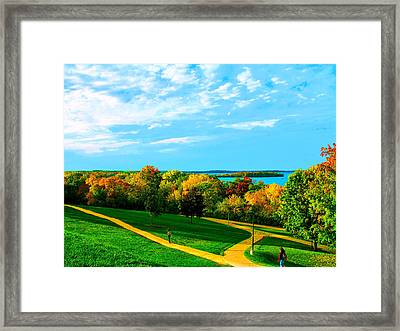 Campus Fall Colors Framed Print by Zafer Gurel