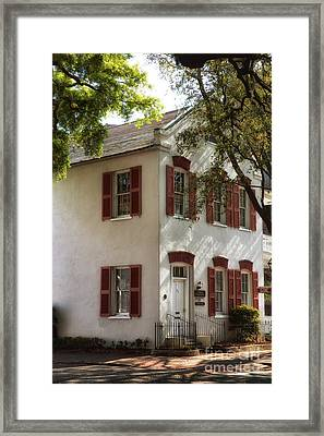 Campus House Framed Print by John Rizzuto