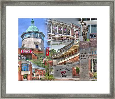 Campus Life Western Kentucky University II Framed Print