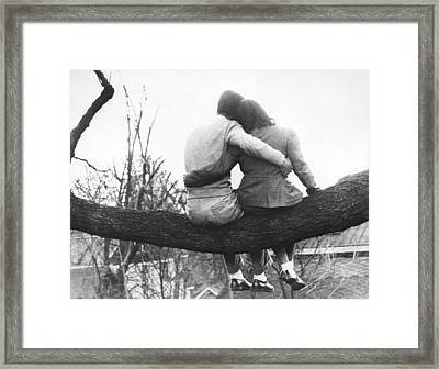 Lovers Out On A Limb Framed Print