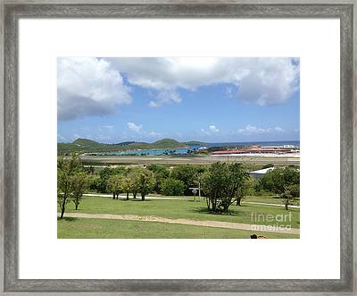 Campus Scene  Framed Print by Candace Bailey