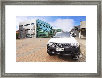 Campus Watch Vehicle Otago University Framed Print by Colin and Linda McKie
