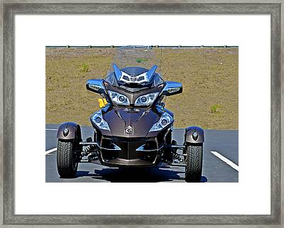 Can-am Spyder - The Spyder Five Framed Print by Christine Till
