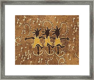 Can Can Dancers Framed Print