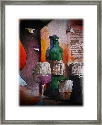 Can I Join You Framed Print by Val Byrne