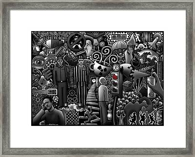 Can 'o' Worms Framed Print