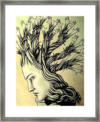 Can Shaping Me But The Essence Never Changes Framed Print by Paulo Zerbato