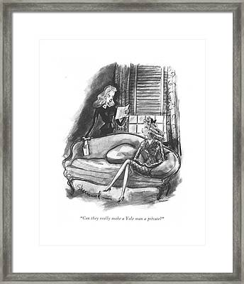 Can They Really Make A Yale Man A Private? Framed Print