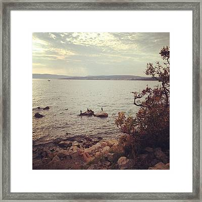 Can You Find The #nudest? - #beach Framed Print