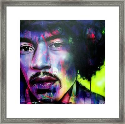 Jimi Hendrix - ' Can You Hear Me ' Framed Print