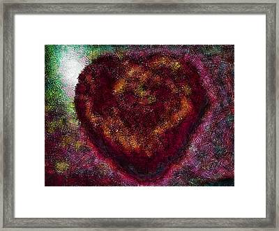 Can You See My Heart Beating? Framed Print