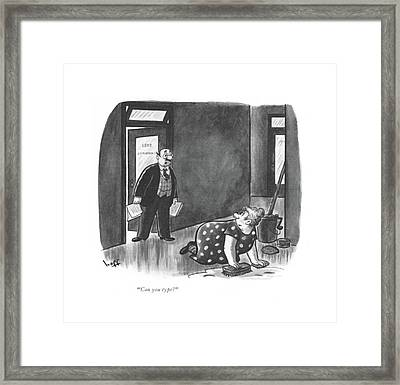 Can You Type? Framed Print by Sydney Hoff
