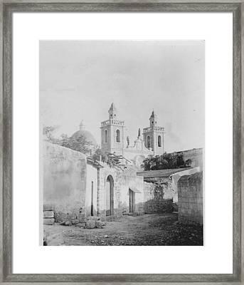 Cana Church Of The Wedding Feast  Framed Print by Dean Stoker