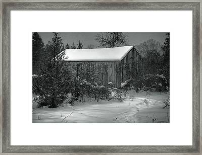 Cana Island Barn Framed Print