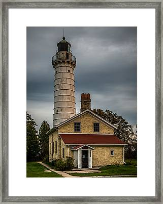 Cana Island Lighthouse By Paul Freidlund Framed Print by Paul Freidlund