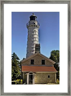 Framed Print featuring the photograph Cana Island Lighthouse by Deborah Klubertanz