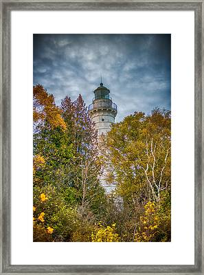 Cana Island Lighthouse II By Paul Freidlund Framed Print by Paul Freidlund