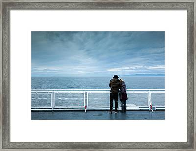 Canada, British Columbia, Strait Framed Print