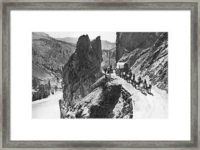 Canada Cariboo Road, 1868 Framed Print