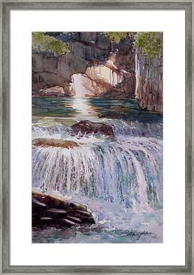 Canada Cascade Framed Print