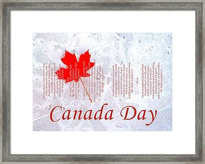 Canada Day .. The Maple Leaf Forever Framed Print by The Creative Minds Art and Photography
