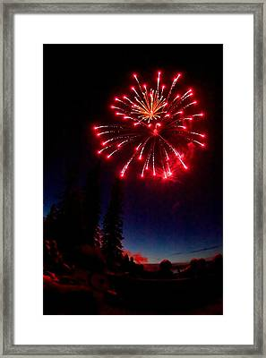 Framed Print featuring the photograph Canada Day Fireworks by Trever Miller