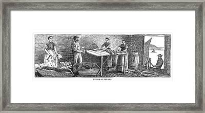 Canada Fishing, 1875 Framed Print by Granger