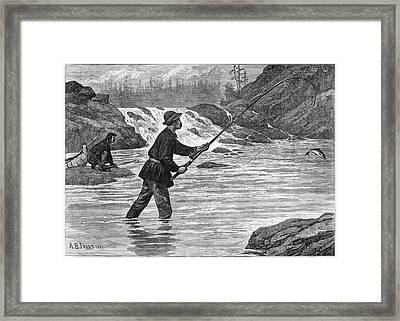 Canada Fishing, 1883 Framed Print by Granger