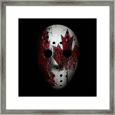 Canada Goalie Mask Framed Print